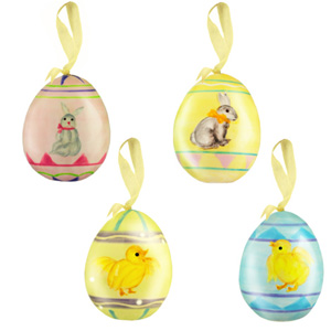 Alternative to chocolate easter gifts chopsy baby online 815205lbox of 4 decorative hanging easter eggs negle Images
