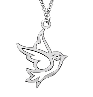 Chopsy baby is reviewing silver sparrow necklace from chopsy baby says a pretty pendant for a childs special occasion aloadofball Images