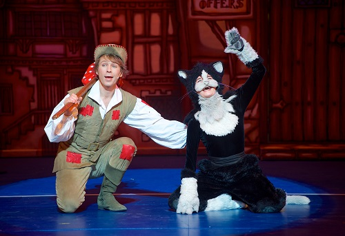 Dick Whittington (Ben Faulks) & Tommy The Cat (Hayley Jane Goold)
