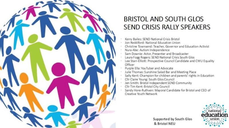 Bristol Send Crisis Rally College Green