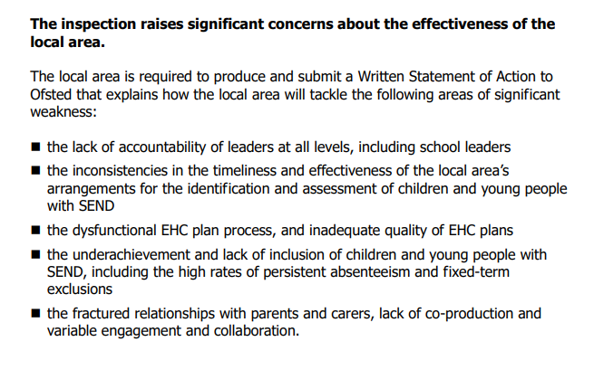 Bristol Ofsted Send report