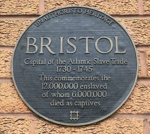Bristol Slave Trade Plaque