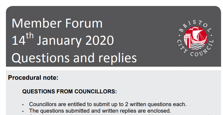 Bristol city council member forum