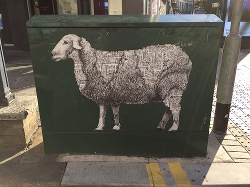 Broadmead sheep street art