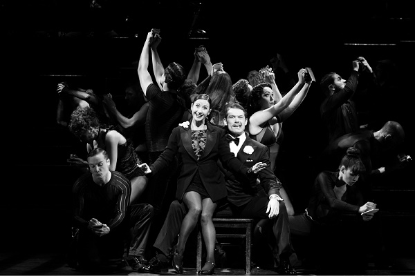 Photo: Catherine Ashmore Hayley Tamaddon as Roxie Hart and John Partridge as Billy Flynn in We Both Reached for the Gun