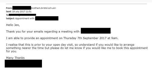 Cotham School email