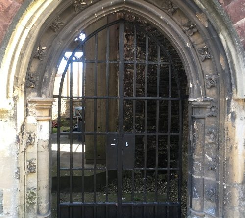 Gate of St Peters Church Castle Park