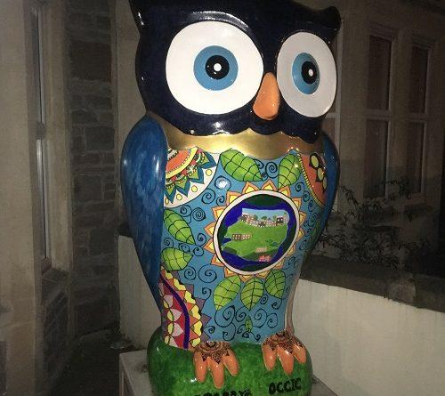 Street Art statue Owl Southville Bristol
