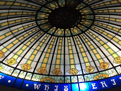 Stained glass dome in The Berkeley Clifton Bristol