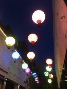 Illuminated balloons Cabot Circus Shopping Centre