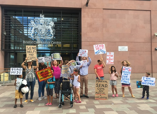 Protest at £5m send cuts bristol