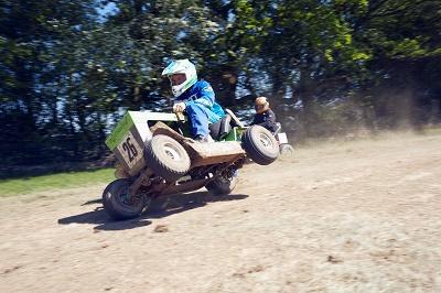 Redbull lawn mower race cheddar