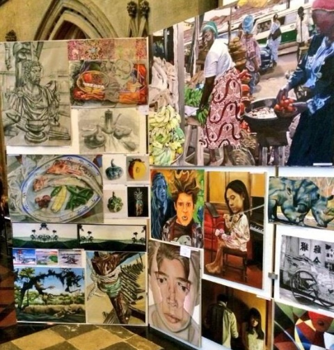 Exhibition Displays Bristol : Bristol cathedral senior schools art exhibition