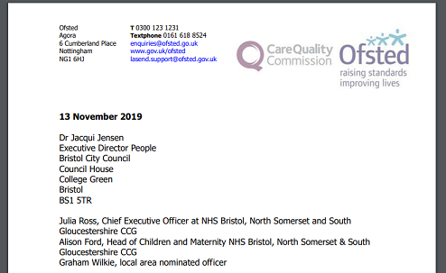 bristol city council ofsted letter