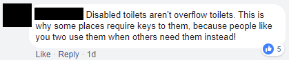 Gender neutral toilet argument