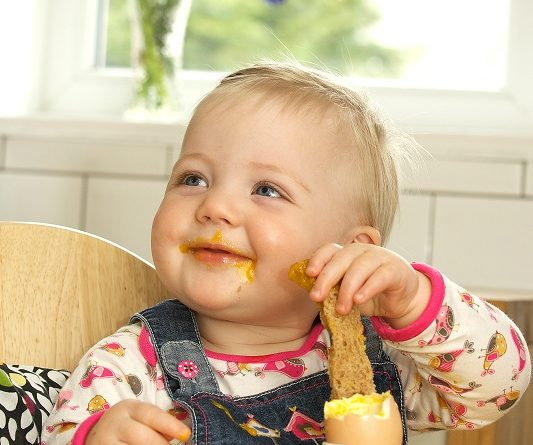 Baby eats soft eggs after salmonella scare subsides