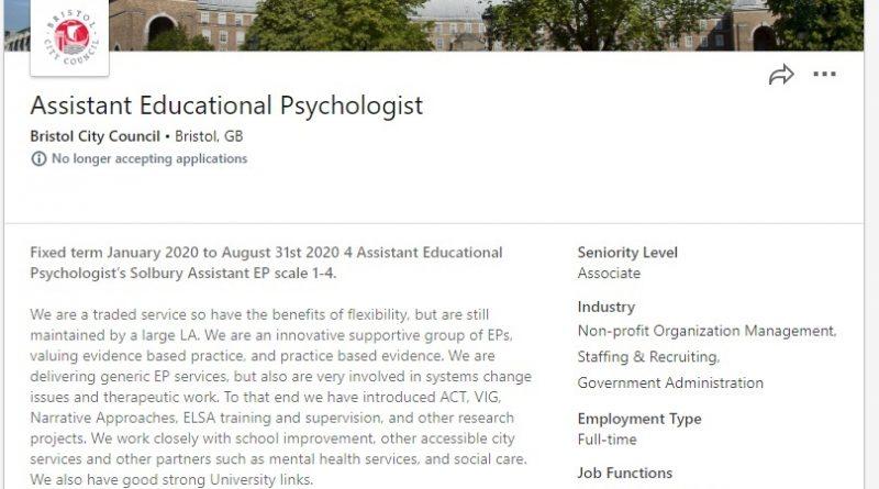 educational psychologists bristol