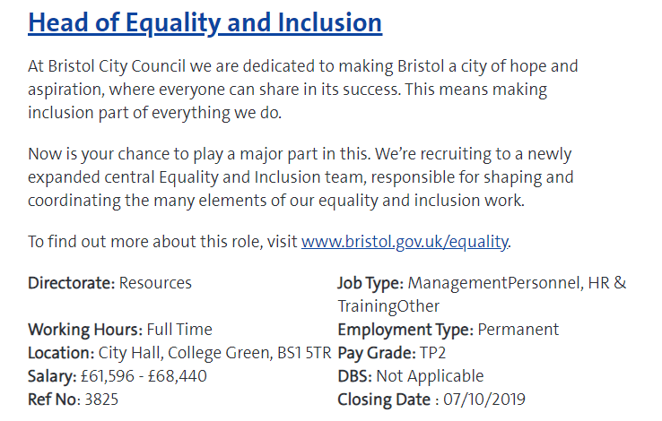 equality and inclusion bristol