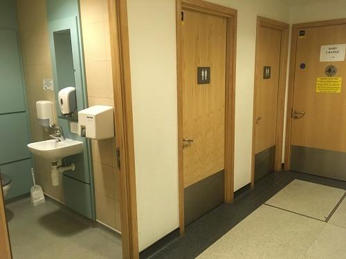 gender neutral toilets BRI Bristol