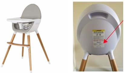 koo-di high chair recall