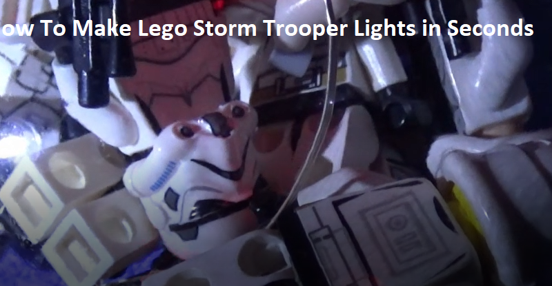 Lego Storm Trooper Sensory Light Activity