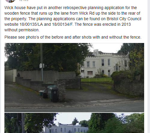 Wick House Planning Application