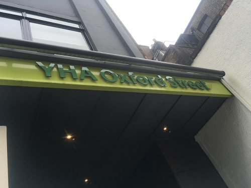 youth hostel oxford Street