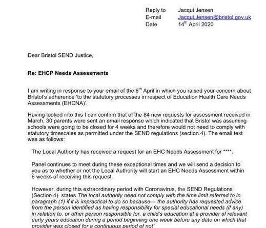 Bristol EHCPs