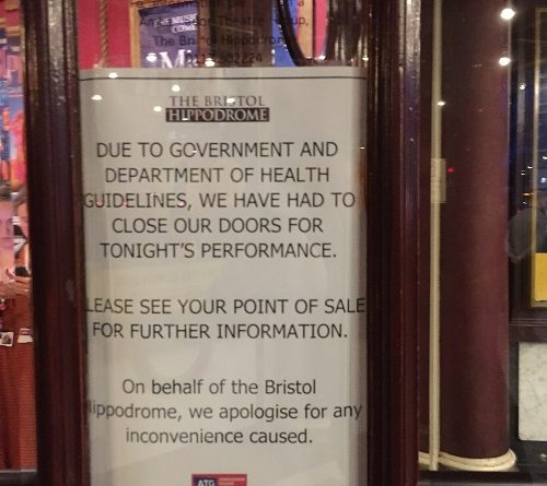 Bristol Hippodrome closes its doors to the public over Coronavirus fears