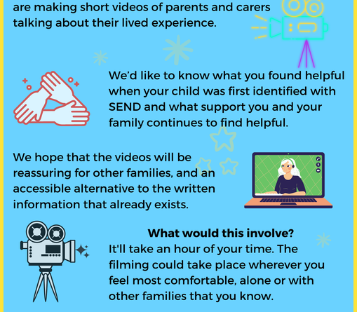 Bristol Local Offer Row. An image advertising Bristol City Council asking Send parents and carers to talk about what helps after their children have been identified with Send.