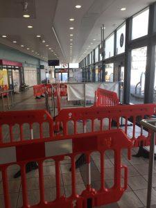 Bristol bus station coronavirus masks