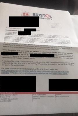 Bristol transport letter