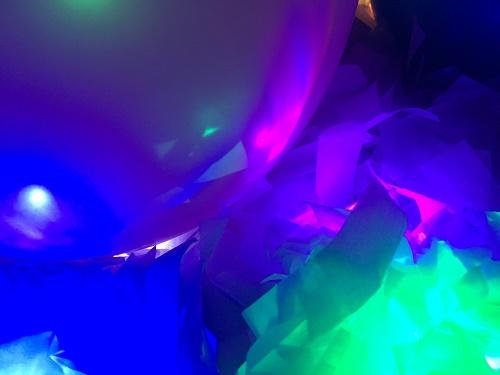 Sensory light up balloons activity