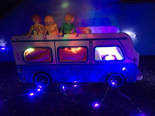 sensory lights activity with playmobil