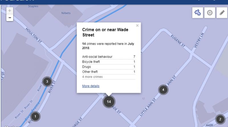 Wade Street Crime Bristol