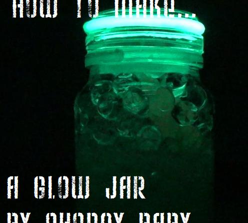 How to Make a Glow Jar sensory activity